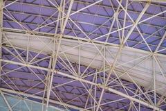 Abstract beeld van een deel van de futuristische dakstructuur Stock Afbeelding