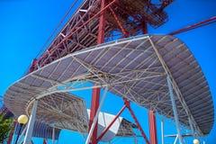 Abstract beeld van een deel van de futuristische dakstructuur Royalty-vrije Stock Foto