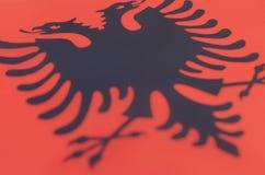 Abstract beeld van een fragment van de vlag van Albanië Stock Fotografie