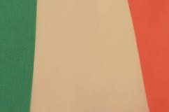 Abstract beeld van een fragment van de vlag van Ierland Stock Afbeelding