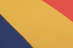Abstract beeld van een fragment van de vlag van Roemenië Royalty-vrije Stock Afbeelding