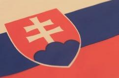 Abstract beeld van een fragment van de vlag van Slowakije Stock Foto's
