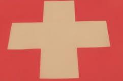 Abstract beeld van een fragment van de vlag van Zwitserland Stock Fotografie