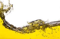 Abstract beeld van een gele gemorste vloeistof Royalty-vrije Stock Foto