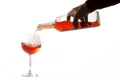 Abstract beeld van een glas wijn Stock Fotografie