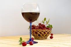 Abstract beeld van een glas wijn Stock Foto