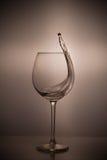 Abstract beeld van een glas wijn Stock Afbeelding