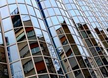 Abstract beeld van een modern gebouw Stock Foto's