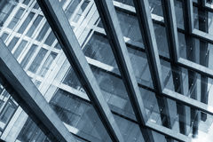 Abstract beeld van een modern gebouw Royalty-vrije Stock Afbeeldingen