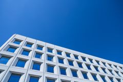 Abstract beeld van een moderne architectuurachtergrond Stock Afbeelding