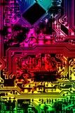 Abstract beeld van een multi-coloured kringsraad stock fotografie