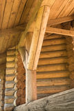 Abstract beeld van een oud houten logboekgebouw Royalty-vrije Stock Fotografie