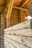 Abstract beeld van een oud houten logboekgebouw Royalty-vrije Stock Foto