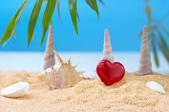 Abstract beeld van een vakantie op zee in de zomer Stock Foto's