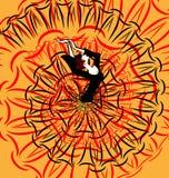 Abstract beeld van flamenco Royalty-vrije Stock Afbeelding