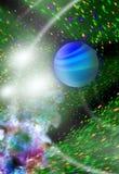 abstract beeld van gestileerd planetenclose-up Royalty-vrije Stock Afbeelding