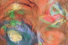 Abstract beeld van getrokken door verfclose-up Stock Fotografie