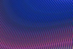 Abstract beeld van het bulk purpere blauwe metaalschijnsel van de golfgradiënt Stock Foto