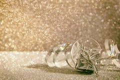 Abstract beeld van Kerstmis feestelijke decoratie Royalty-vrije Stock Afbeeldingen