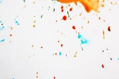Abstract beeld van kleurrijke dalingen Stock Afbeeldingen