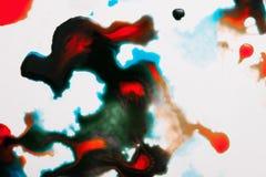 Abstract beeld van kleurrijke plonsen Stock Fotografie