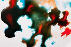 Abstract beeld van kleurrijke plonsen Stock Foto's
