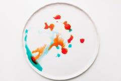 Abstract beeld van kleurrijke plonsen op wit Royalty-vrije Stock Fotografie