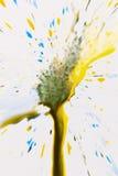 Abstract beeld van kleurrijke spatten Stock Afbeelding