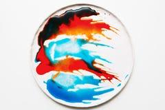 Abstract beeld van kleurrijke spatten Royalty-vrije Stock Afbeelding