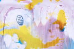 Abstract beeld van kleurrijke stroken van verf Stock Foto
