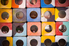 Abstract beeld van kubussenachtergrond Royalty-vrije Stock Afbeelding