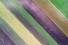 Abstract beeld van landbouwgrond Stock Foto