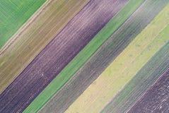 Abstract beeld van landbouwgrond Royalty-vrije Stock Afbeeldingen