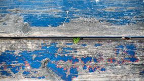 Abstract Beeld van Oude bank met Blauwe verf Royalty-vrije Stock Afbeelding