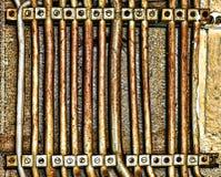 Abstract beeld van parallelle zeer oude korrelig voedinglijnen, Stock Afbeelding