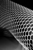 Abstract beeld van plastic honingraatnetwerk Stock Afbeelding