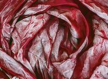 Abstract beeld van rode doek Stock Foto