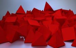 Abstract beeld van rode driehoeken Royalty-vrije Stock Afbeeldingen