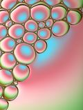 Abstract beeld van zeepbels Stock Foto's