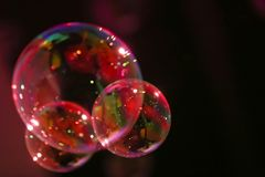 Abstract beeld van zeepbels Stock Afbeeldingen