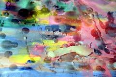 Abstract beeld, was, waterverf en verf Stock Foto's