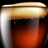 Abstract beer background. Highly realistic illustration with the Stock Image