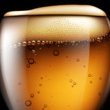 Abstract beer background. Highly realistic illustration with the Stock Photos