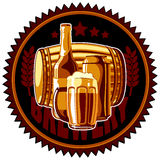 Abstract beer background Royalty Free Stock Image