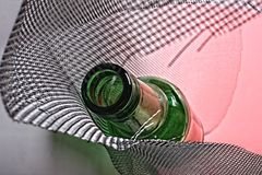 Abstract Beer Bottle Background Stock Image