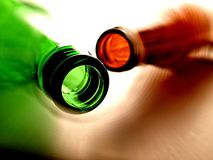 Abstract Beer Bottle Background Design Stock Photo