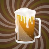 Abstract Beer Glass Vector Royalty Free Stock Photography