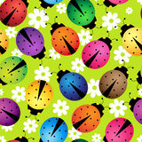 Abstract beetles. Illustration of seamless background with abstract beetles Royalty Free Stock Image