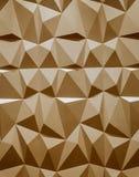 Abstract behang of geometrische achtergrond die uit warme of oranje geometrische vormen bestaan: driehoeken en veelhoeken Royalty-vrije Stock Afbeeldingen