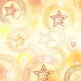 Abstract beige background with circles and stars Stock Photo